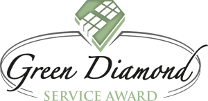 green diamond service award logo